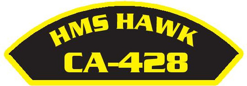 50 patches of HMS Hawk CA-428.  Please be aware if this is the first run, 11 of those patches will be withheld for our legal obligation. After the initial order, all 50 patches will be shipped.