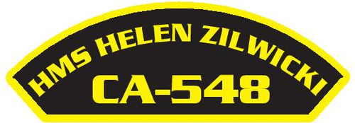 50 patches of HMS Helen Zilwicki CA-548.  Please be aware if this is the first run, 11 of those patches will be withheld for our legal obligation. After the initial order, all 50 patches will be shipped.
