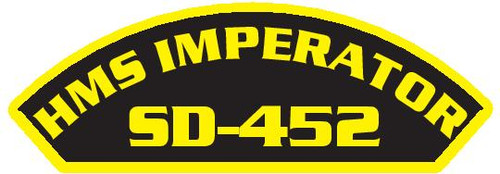50 patches of HMS Imperator SD-452.  Please be aware if this is the first run, 11 of those patches will be withheld for our legal obligation. After the initial order, all 50 patches will be shipped.