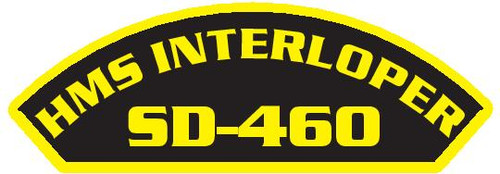 50 patches of HMS Interloper SD-460.  Please be aware if this is the first run, 11 of those patches will be withheld for our legal obligation. After the initial order, all 50 patches will be shipped.