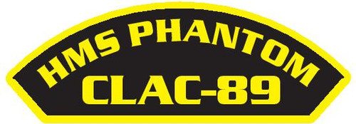50 patches of HMS Phantom CLAC-89.  Please be aware if this is the first run, 11 of those patches will be withheld for our legal obligation. After the initial order, all 50 patches will be shipped.