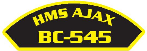 50 patches of HMS Ajax BC-545.  Please be aware if this is the first run, 11 of those patches will be withheld for our legal obligation. After the initial order, all 50 patches will be shipped.