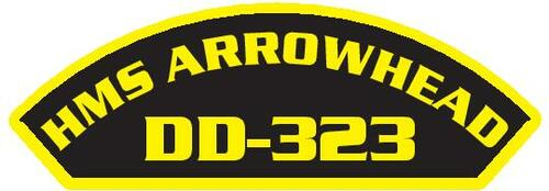 50 patches of HMS Arrowhead DD-323.  Please be aware if this is the first run, 11 of those patches will be withheld for our legal obligation. After the initial order, all 50 patches will be shipped.