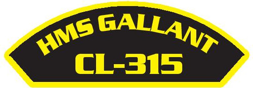 50 patches of HMS Gallant CL-315.  Please be aware if this is the first run, 11 of those patches will be withheld for our legal obligation. After the initial order, all 50 patches will be shipped.
