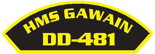 50 patches of HMS Gawain DD-481.  Please be aware if this is the first run, 11 of those patches will be withheld for our legal obligation. After the initial order, all 50 patches will be shipped.