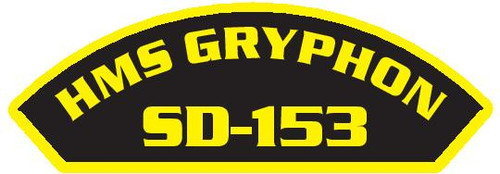 50 patches of HMS Gryphon SD-153.  Please be aware if this is the first run, 11 of those patches will be withheld for our legal obligation. After the initial order, all 50 patches will be shipped.