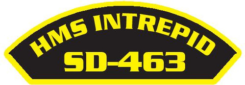 50 patches of HMS Intrepid SD-463.  Please be aware if this is the first run, 11 of those patches will be withheld for our legal obligation. After the initial order, all 50 patches will be shipped.