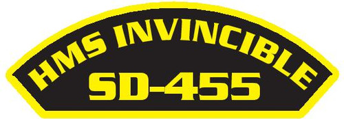 50 patches of HMS Invincible SD-455.  Please be aware if this is the first run, 11 of those patches will be withheld for our legal obligation. After the initial order, all 50 patches will be shipped.