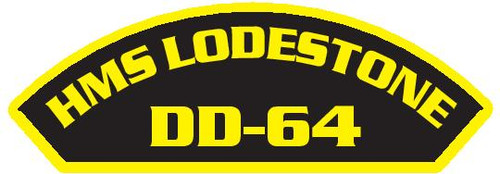 50 patches of HMS Lodestone DD-64.  Please be aware if this is the first run, 11 of those patches will be withheld for our legal obligation. After the initial order, all 50 patches will be shipped.
