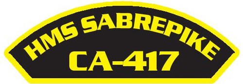 50 patches of HMS Sabrepike CA-417.  Please be aware if this is the first run, 11 of those patches will be withheld for our legal obligation. After the initial order, all 50 patches will be shipped.