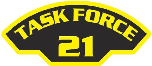 50 patches of Task Force 21.  Please be aware if this is the first run, 11 of those patches will be withheld for our legal obligation. After the initial order, all 50 patches will be shipped.