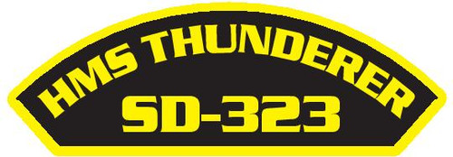 50 patches of HMS Thunderer SD-323.  Please be aware if this is the first run, 11 of those patches will be withheld for our legal obligation. After the initial order, all 50 patches will be shipped.