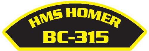 50 patches of HMS Homer BC-315.  Please be aware if this is the first run, 11 of those patches will be withheld for our legal obligation. After the initial order, all 50 patches will be shipped.