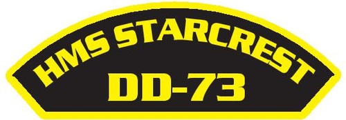 50 patches of HMS Starcrest DD-73.  Please be aware if this is the first run, 11 of those patches will be withheld for our legal obligation. After the initial order, all 50 patches will be shipped.
