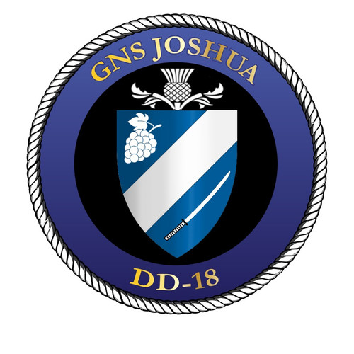50 patches of GNS Joshua DD-18.  Please be aware if this is the first run, 11 of those patches will be withheld for our legal obligation. After the initial order, all 50 patches will be shipped.