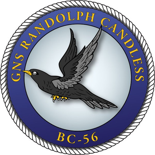 50 patches of GNS Randolph Candless BC-56.  Please be aware if this is the first run, 11 of those patches will be withheld for our legal obligation. After the initial order, all 50 patches will be shipped.