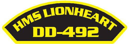50 patches of HMS Lionheart DD-492.  Please be aware if this is the first run, 11 of those patches will be withheld for our legal obligation. After the initial order, all 50 patches will be shipped.
