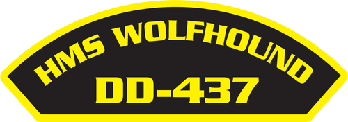 50 patches of HMS Wolfhound DD-437.  Please be aware if this is the first run, 11 of those patches will be withheld for our legal obligation. After the initial order, all 50 patches will be shipped.