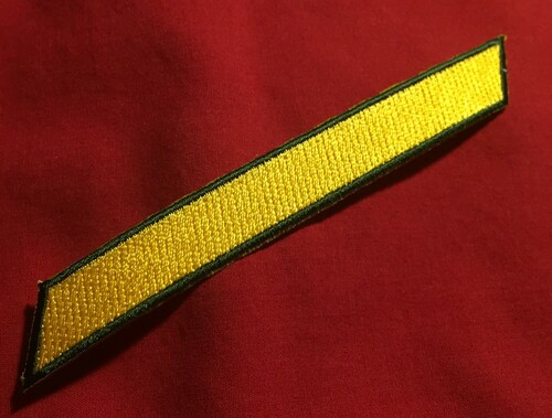 RMMC Enlisted Stripe (Yellow)