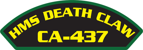 HMS Death Claw CA-437 - Marine Patches