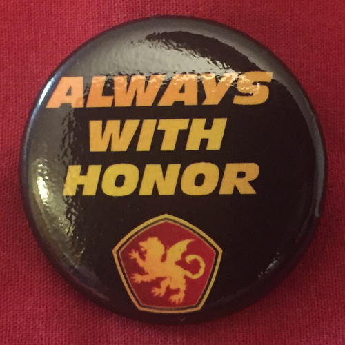 Always with Honor Pin Badges / Pin Buttons (Pack of 10)