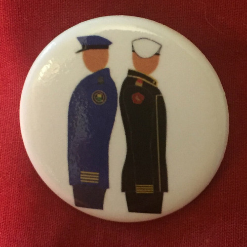 Uniform Pose Pin Badges / Pin Buttons (Pack of 10)
