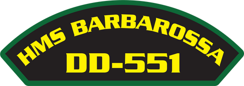 HMS Barbarossa DD-551 (Marine Patches)