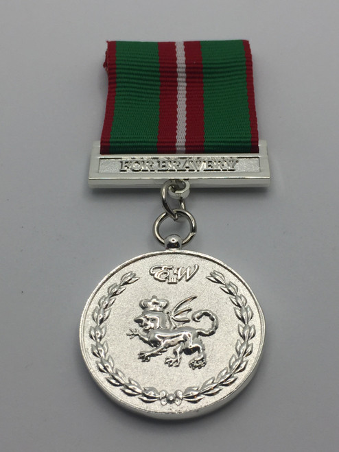 Queen's Bravery Medal - Metal Medal - Front