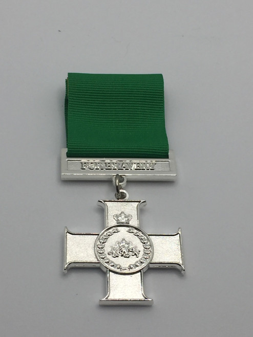 Queen's Cross for Bravery - Metal Medal - Front