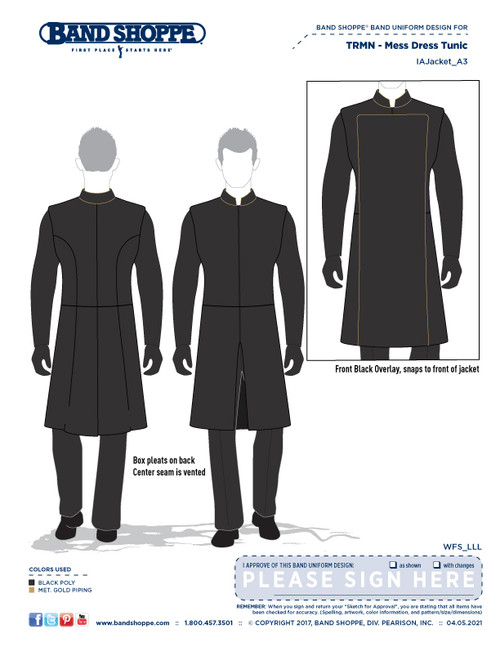 RMN Flag Officer's Mess Dress Uniform Pre-order