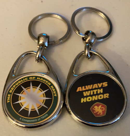 Always With Honor Republic of Haven Navy Keyring
