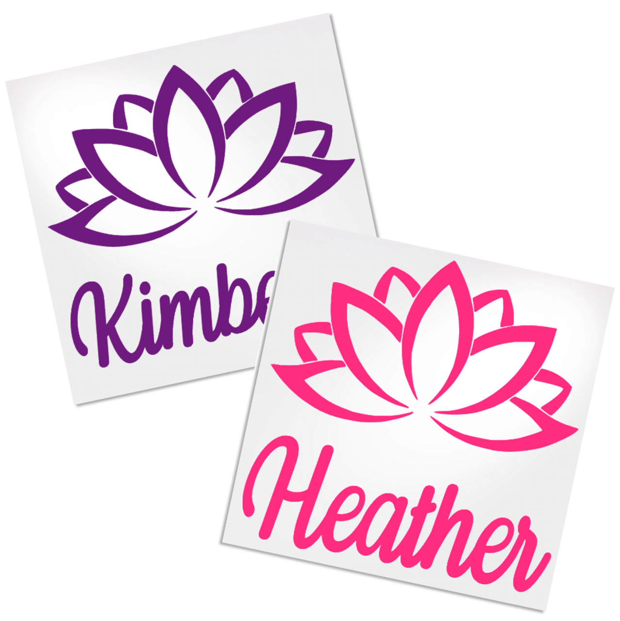 8991a2254da1d4 Lotus Flower Decal with name is a great way to personalize any hard