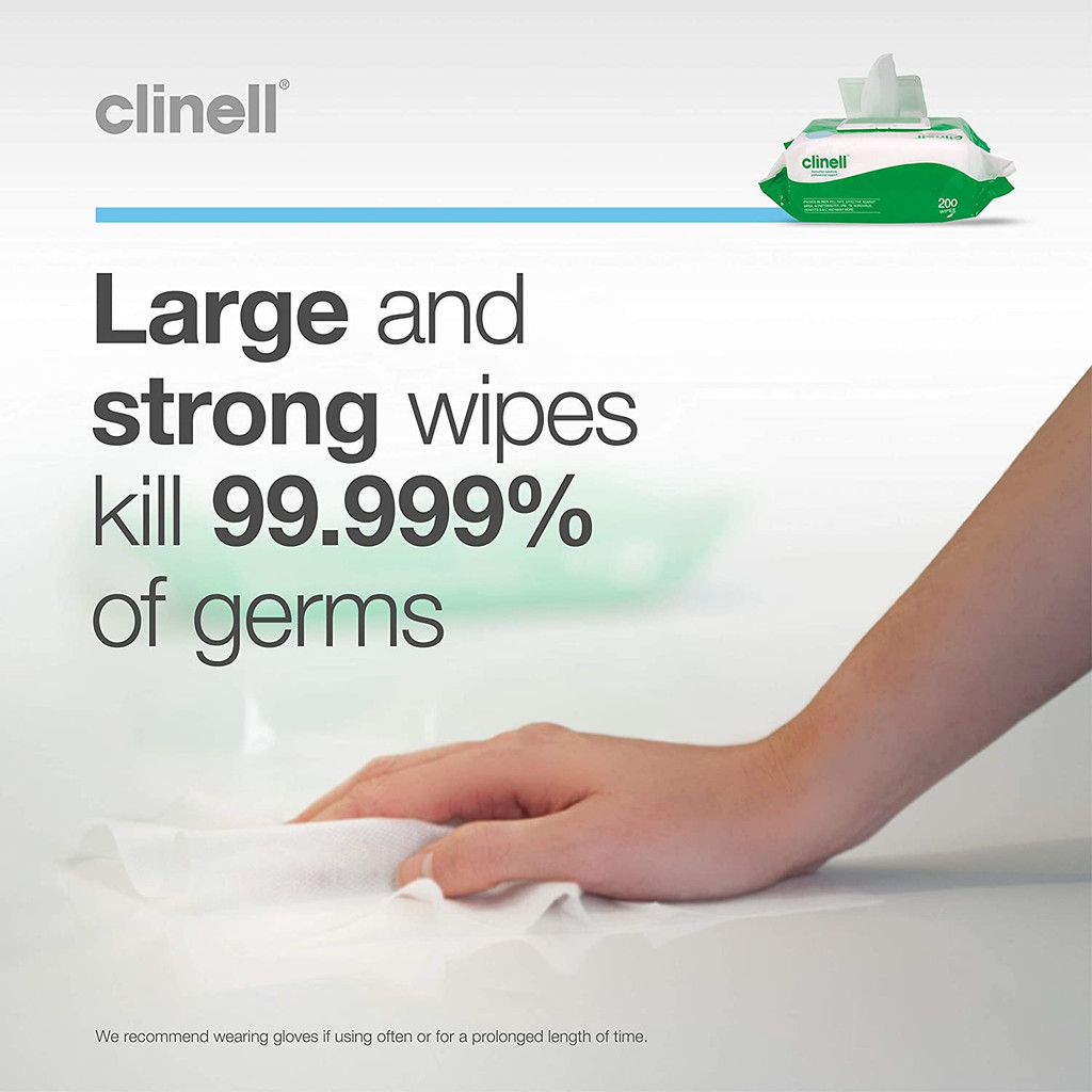 LIMITED SUPPLY: Clinell Universal Wipes Pack 200