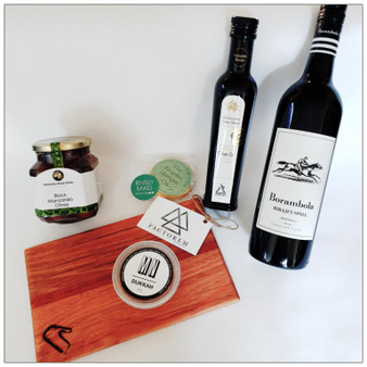 Perfect gift for someone who enjoys the finer things in life. A quality selection of gourmet products made in the Riverina - just add cheese for the perfect platter!