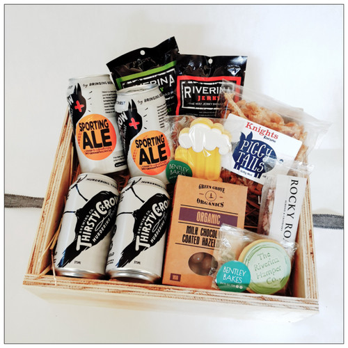 "The Perfect Gift to say ""thanks mate"" any time and show your appreciation when you don't know how. Snacks and beers."