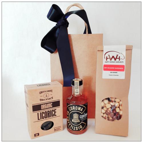whisky, hazelnuts and licorice