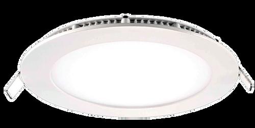 "4"" Slim LED Round Panel Light white trim"
