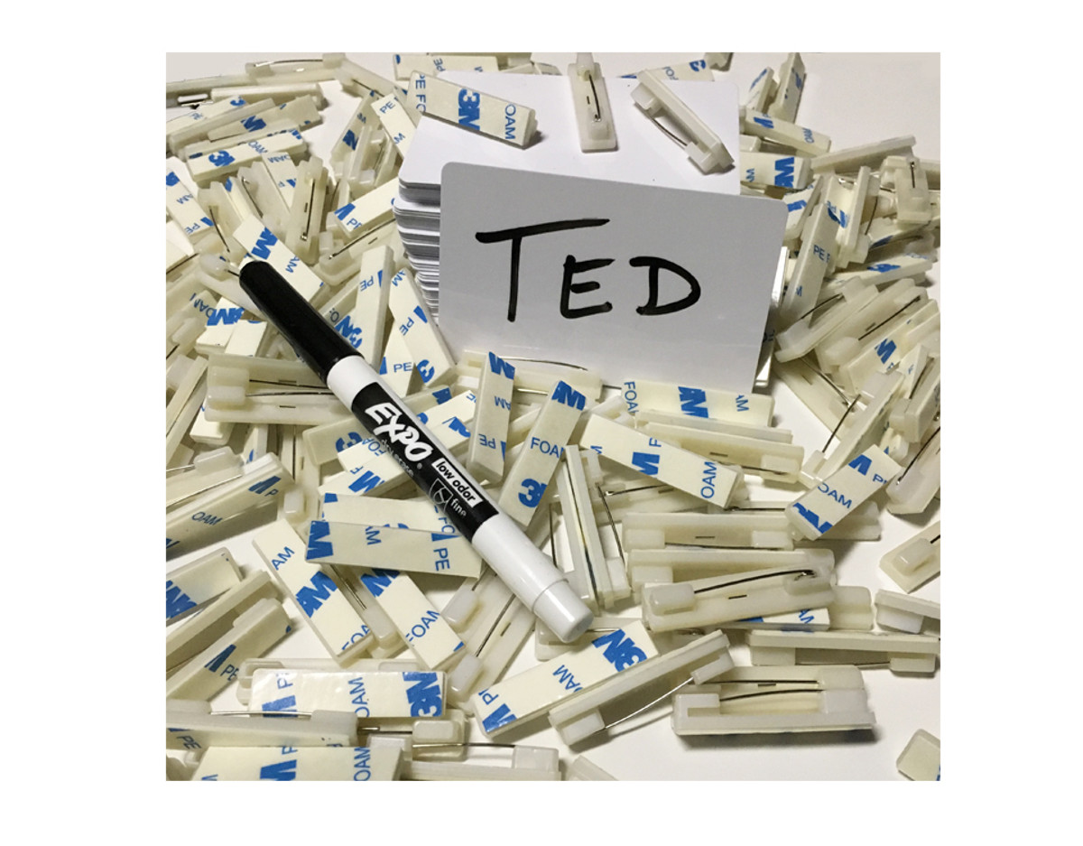 Blank Dry-Wet Erase Name Tags