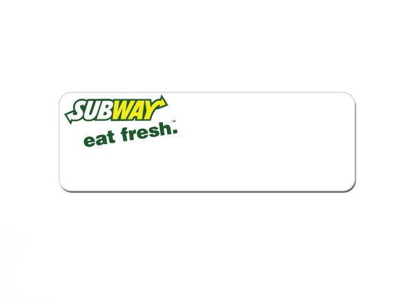 Free Sample Name Tags - Emailed proof with your logo within 24 hours