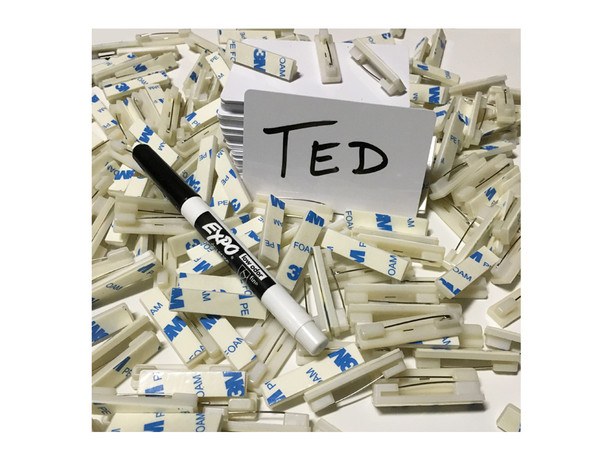 Blank Dry-Wet Erase Name Tags 25 Pack