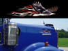 Shown on a Kenworth W900 hood.