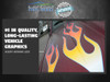 No. 12 Semi -  Truck Tribal Flame decals  - 12 pc. set - Choose from 3 Colors