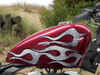 Devil tail 6 pc flame set Silver foil look for harley sportster