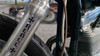 Rebel chopper cross / iron cross - Motorcycle Fork Decals  - 2pc set