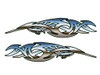 Semi Truck Hood Decals  - Tribal - Chrome - 2 pc. set