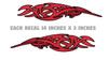 No. 2 Tribal - Tank decals - 2pc set  (Cherry red)