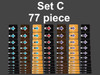 Set C 88 piece set can cover 8 Guitars or mix and match them