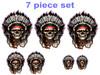 Indian chief   7 piece set