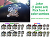 """Joker 7 piece set shown on tank is the large 5"""" x 5"""" piece in Green"""