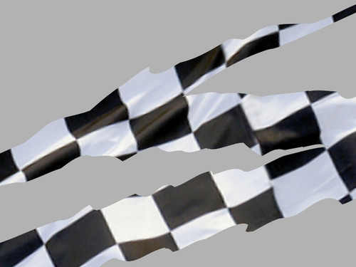 Ripped Stripe - 4pc set - Checkered Flag